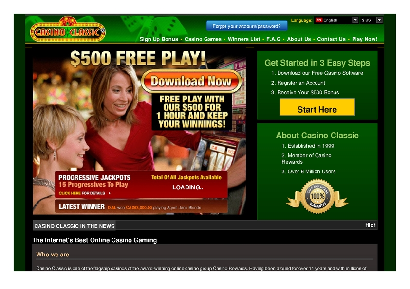 Casino Classic review on Review Slots