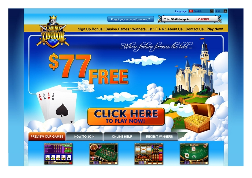 Casino Kingdom review on Review Slots