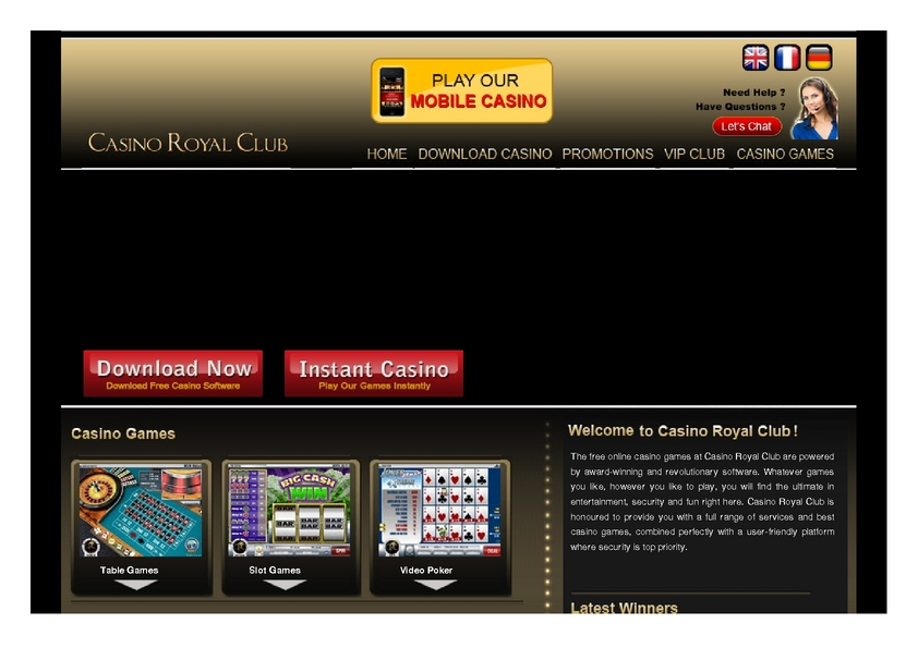 Casino Royal Club review on Review Slots
