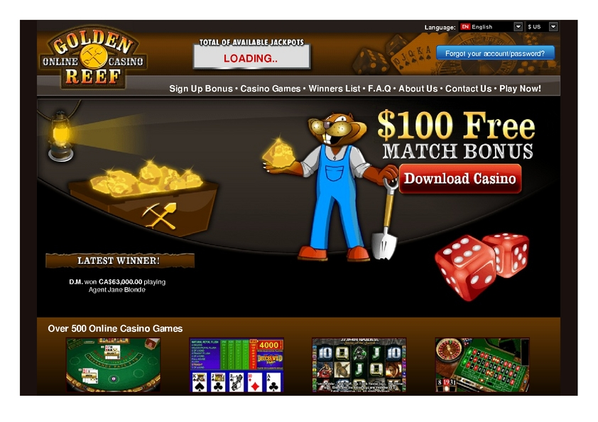 Golden Reef review on Review Slots