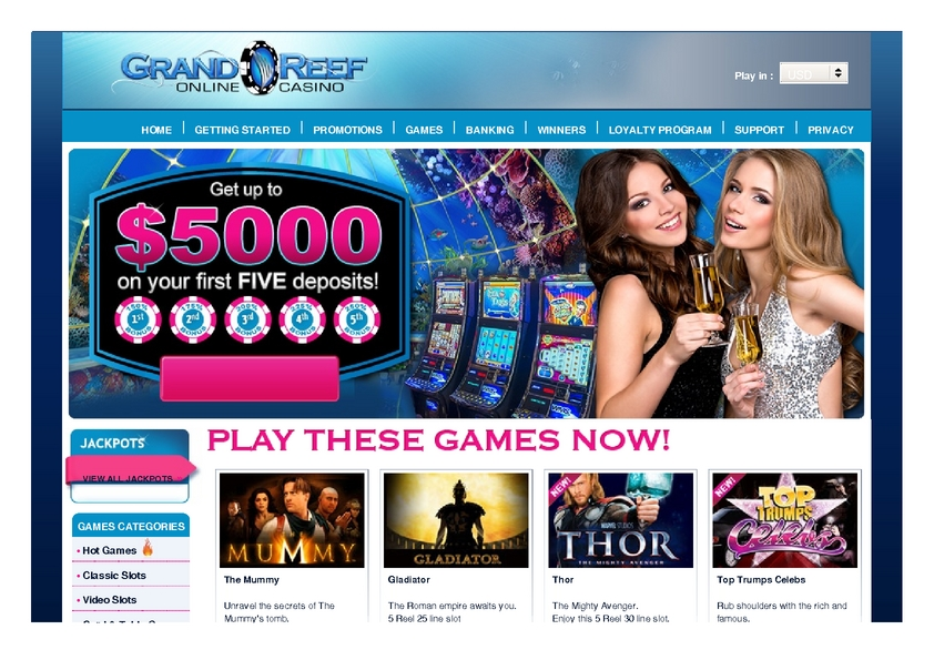Grand Reef review on Review Slots