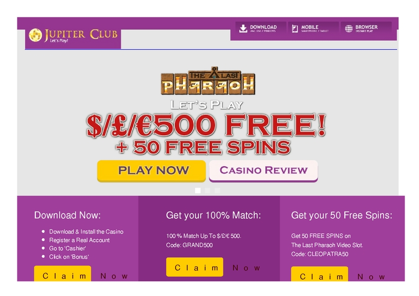 Jupiter Club review on Review Slots
