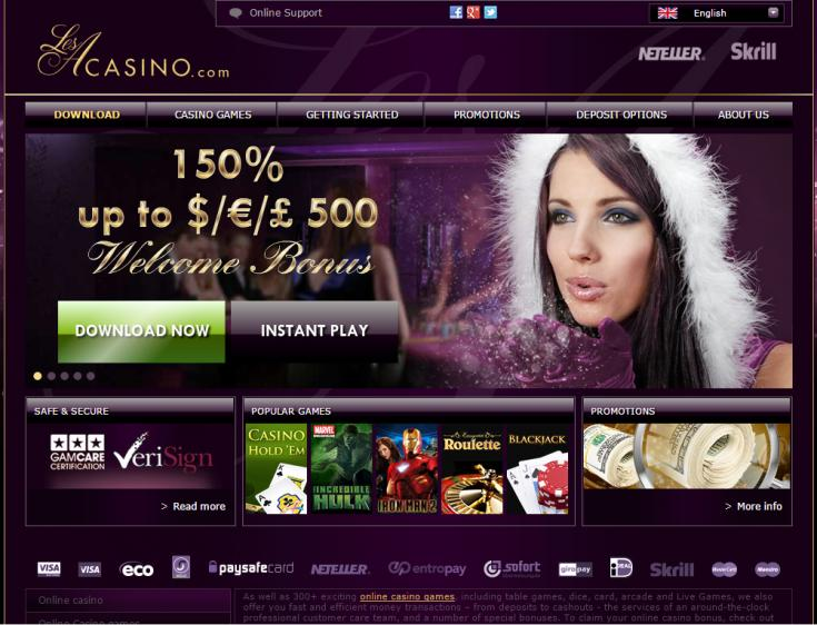 LesA Casino review on Review Slots