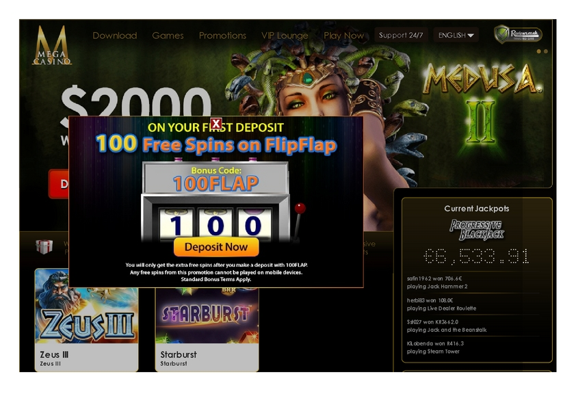 Mega Casino review on Review Slots