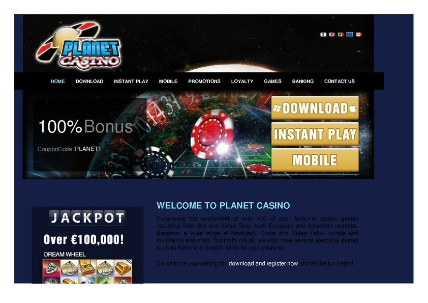 Planet Casino review on Review Slots