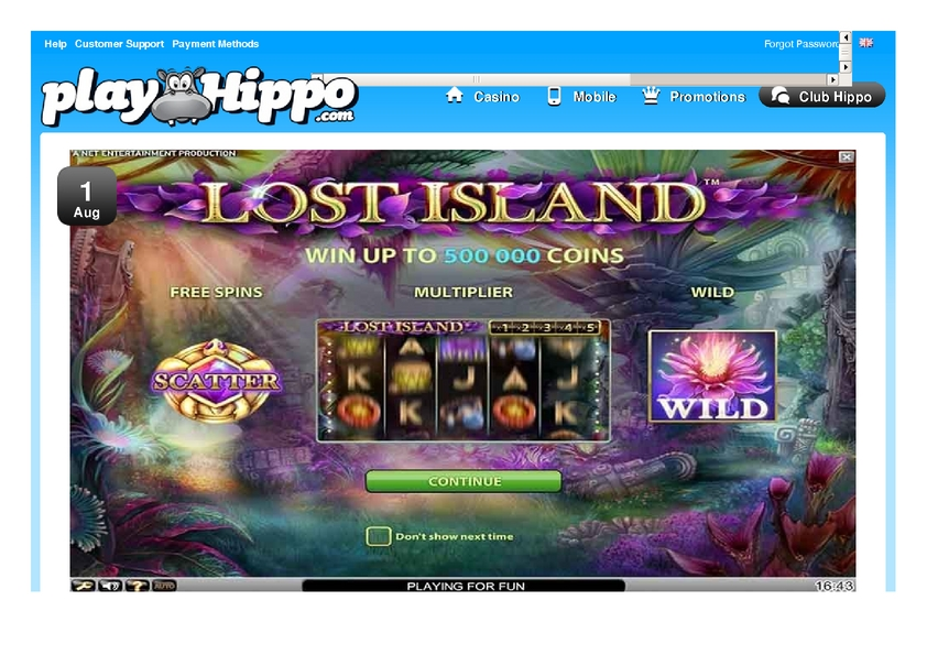 Play Hippo review on Review Slots