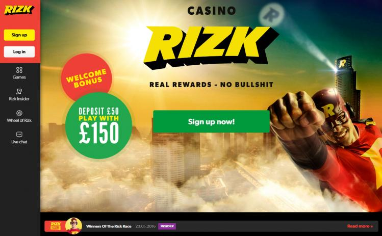 Rizk review on Review Slots