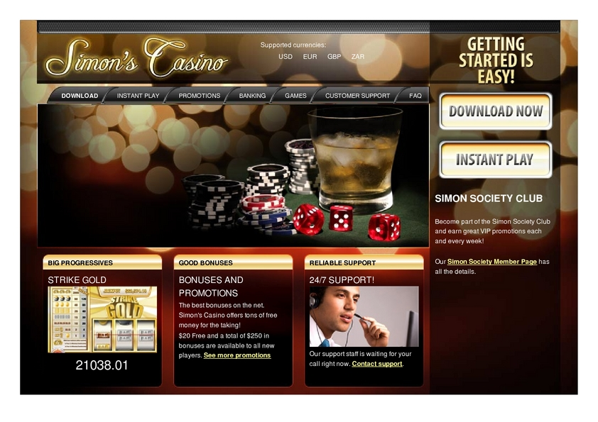 Simon says casino review fabric gambling