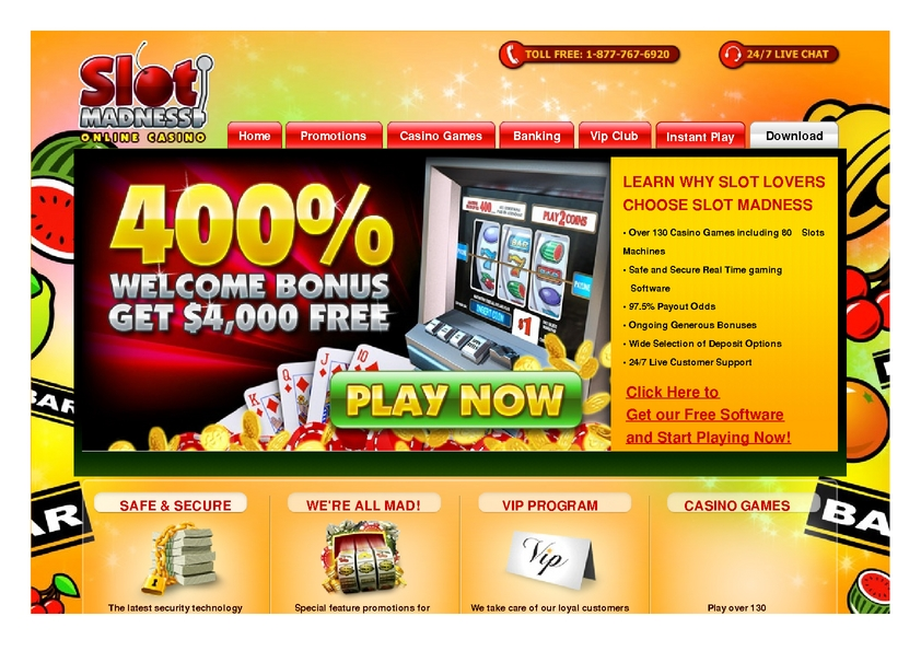 Slot Madness review on Review Slots