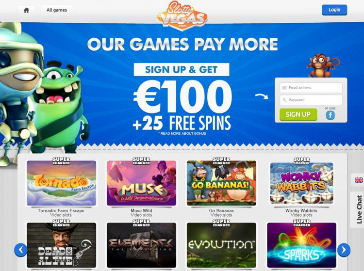 Slotty Vegas review on Review Slots