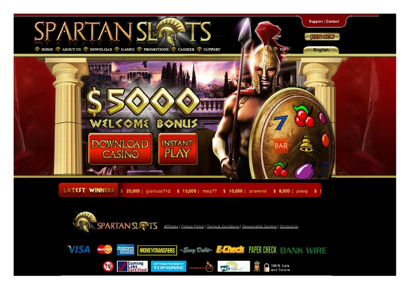 Spartan Slots review on Review Slots