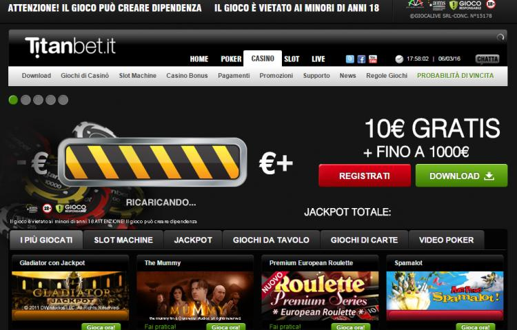 Titanbet.it review on Review Slots