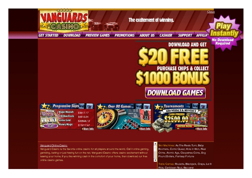 Vanguard review on Review Slots