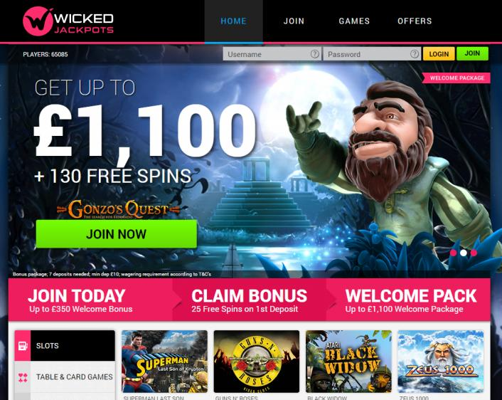Wicked Jackpots review on Review Slots