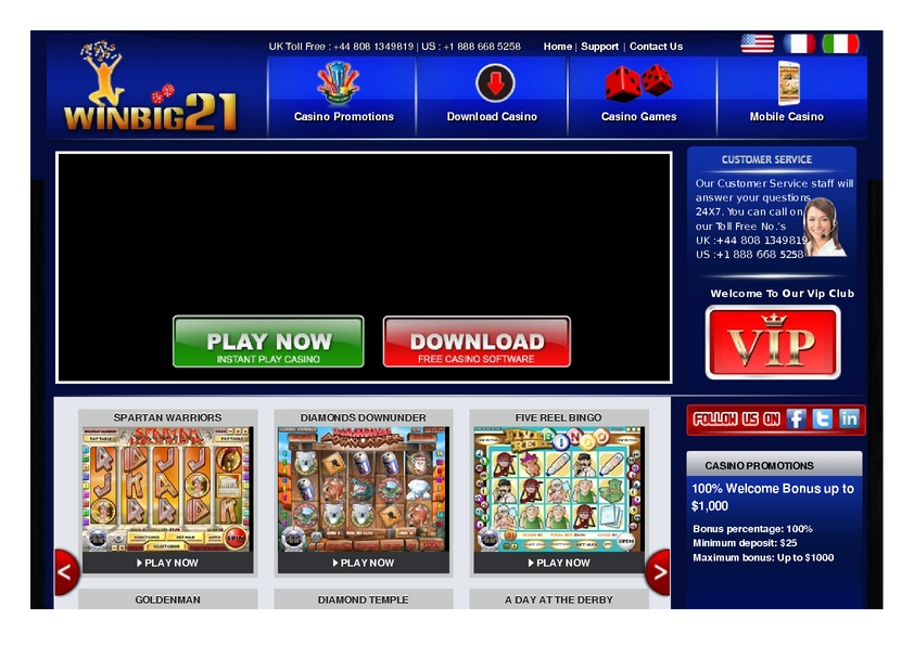 Winbig21 review on Review Slots