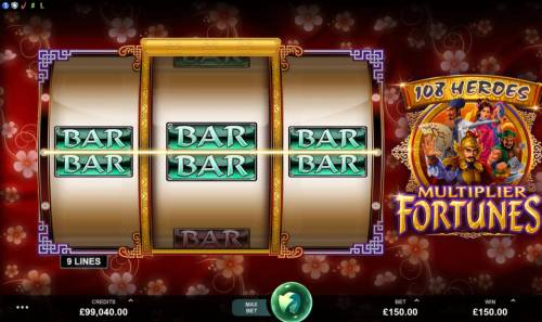 108 Heroes Multiplier Fortunes Review Slots A winning Three of a Kind.