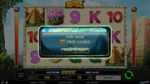 2012 Review Slots Scatter win triggers the free spins feature