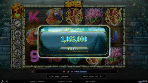 2012 Review Slots Total Free Spins Payout