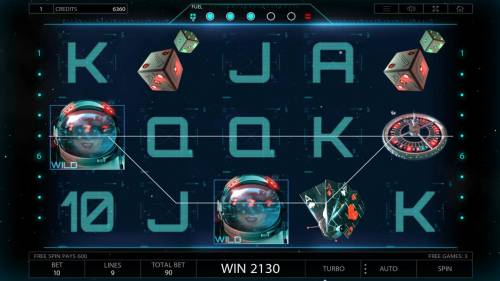 2027 ISS Review Slots A pair of winning paylines triggered during the free spins feature.