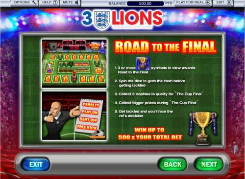 3 Lions Review Slots Road the the Final Bonus Rules
