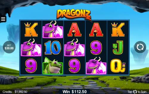 Dragonz Review Slots A winning Four of a Kind.