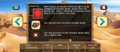3 Elements Review Slots Double-Up Feature is available after any winning spin.
