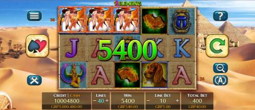 3 Elements Review Slots A three of a kind leads to a 5400 coin big win.