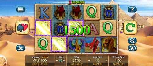 3 Elements Review Slots Yellow skull feature leads to a 1500 coin payout