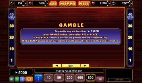 40 Super Hot Review Slots Gamble Feature Rules