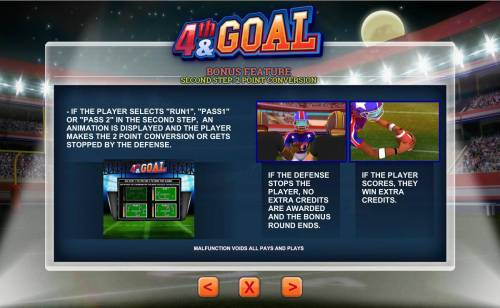 4th and Goal Review Slots Bonus Feature Step Two 2 Point Conversion Rules