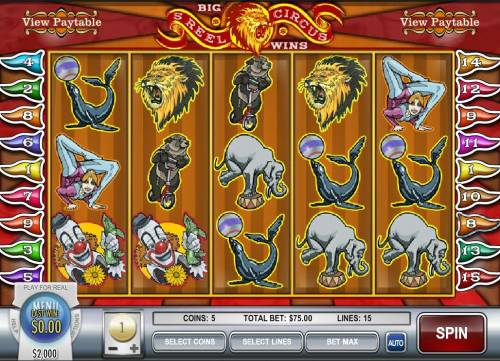 5-Reel Circus review on Review Slots
