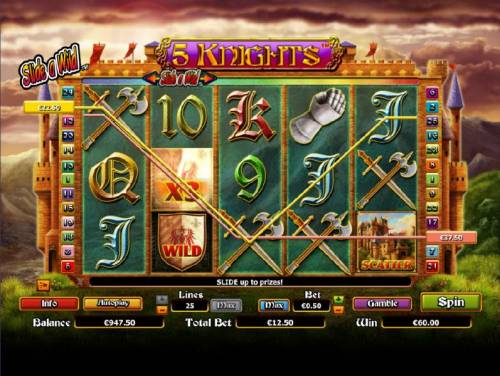 5 Knights Review Slots here is an example of a $60 jackpot triggered by multiple winning paylines