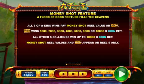9 Sons, 1 King Review Slots Money Shote Feature Rules