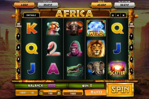 Africa Review Slots Main Game Board