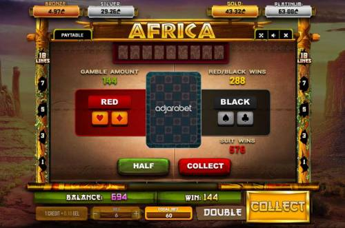Africa Review Slots Gamble Feature Game Board