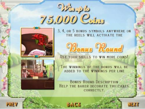 Afternoon Tea Party Review Slots bonus feature rules - win up to 75,000 coins