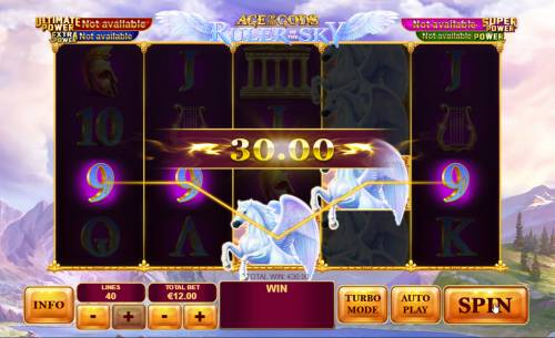 Age of the Gods Ruler of the Sky Review Slots A winning five of a kind