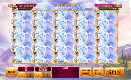 Age of the Gods Ruler of the Sky Review Slots Main Game Board