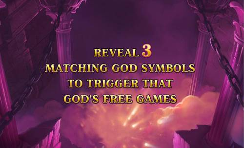 Age of the Gods Review Slots Reveal 3 matching god symbols to trigger that gods free games.
