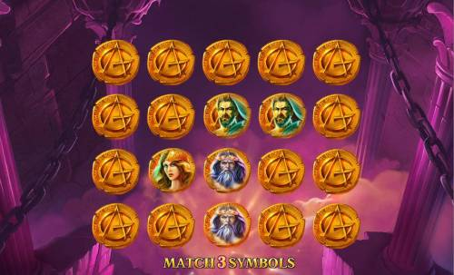 Age of the Gods Review Slots Select symbols until player matches 3.