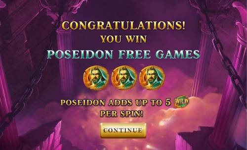 Age of the Gods Review Slots Poseidon Free Games with up to 5 wilds per spin.
