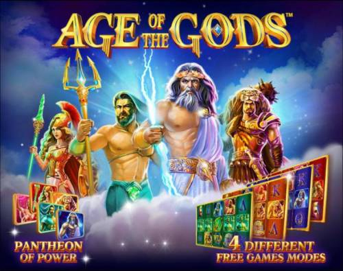 Age of the Gods Review Slots Pantheon of Power - 4 different Free Games Modes