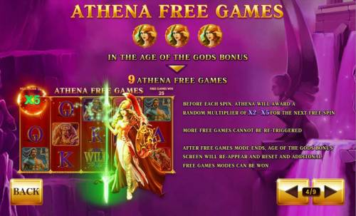 Age of the Gods Review Slots Athena Free Games Rules