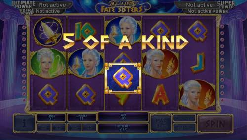Age of the Gods Fate Sisters Review Slots A winning Five of a Kind.