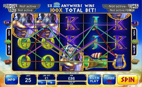 Age of the Gods King of Olympus Review Slots Multiple winning paylines triggers a big win!