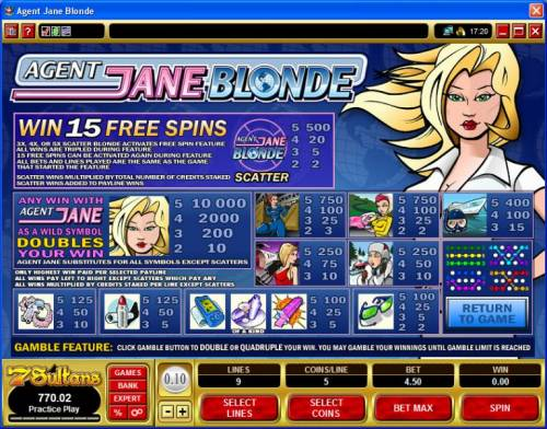 Agent Jane Blonde Review Slots