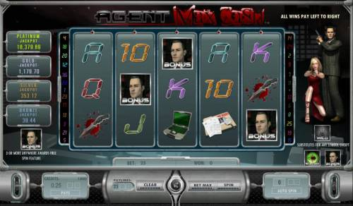 Agent Max Cash Review Slots three bonus symbols triggers bonus feature