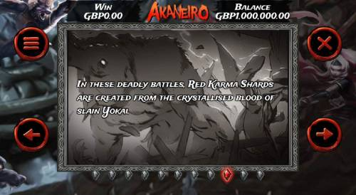 Akaneiro Review Slots In these deadly battles, Red Karma Shards are created from the crystallised blood of slain Yokai.