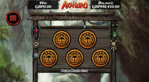 Akaneiro Review Slots Pick one of the five bonus items to reveal your prize award.