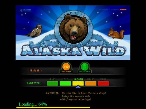 Alaska Wild Review Slots Game features include: Free Games, Stacked Wilds and the game style is smooth.